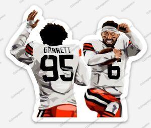 Baker Mayfield Myles Garrett STICKER - Cleveland Browns NFL Premium Vinyl CLE