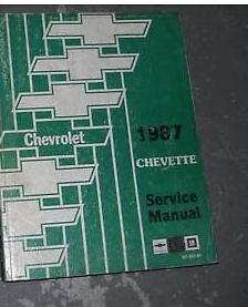 1987 GM Chevrolet Chevy Chevette Service Shop Repair Workshop Manual OEM Book GM