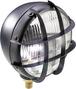 Scheinwerfer-Scrambler-Enduro-Brat-style-oldschool-Bobber-headlight-Schutzgitter