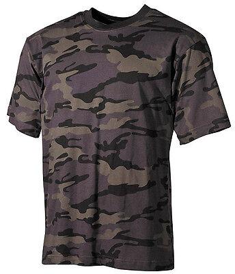US Army Tarn T-Shirt nightcamo combat black camo XS-XXL