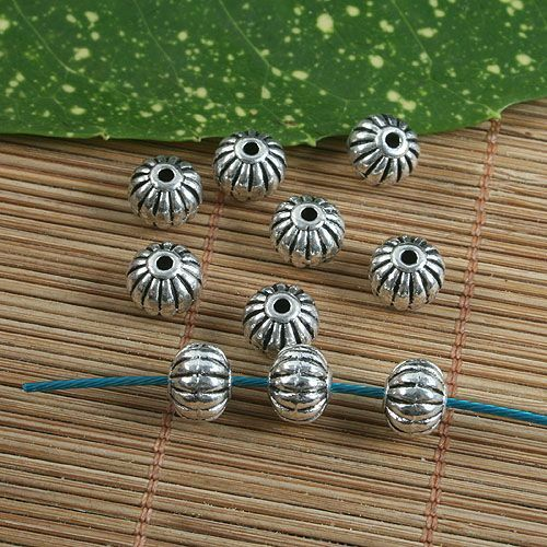 12pcs Argent Ancien lanterne design Spacer Beads G1236