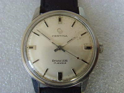Vintage Swiss Certina17J Manual Men's Watch