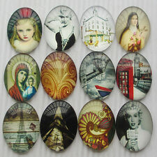 20pcs Oval Clear Cabochons Flatbacks Resin Dome Cameos 40mm Europe Style