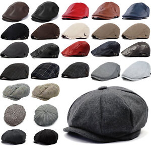 48a85b22a28 Image is loading Mens-Herringbone-Tweed-Newsboy-Cap-Peaky-Blinders-Baker-
