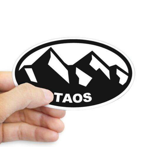 CafePress Taos NM Oval Bumper Sticker Euro Oval Car Decal 466972476