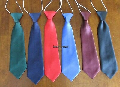 Boys Pink Elasticated Tie Wedding Prom Page Boys Communion Ties
