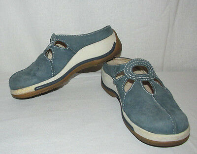 Clothing, Shoes & Accessories Delicious Dansko Camilla Blue Nubuck Genuine Leather Sz 8/38 Floral/slip-on Casual Mules Comfort Shoes