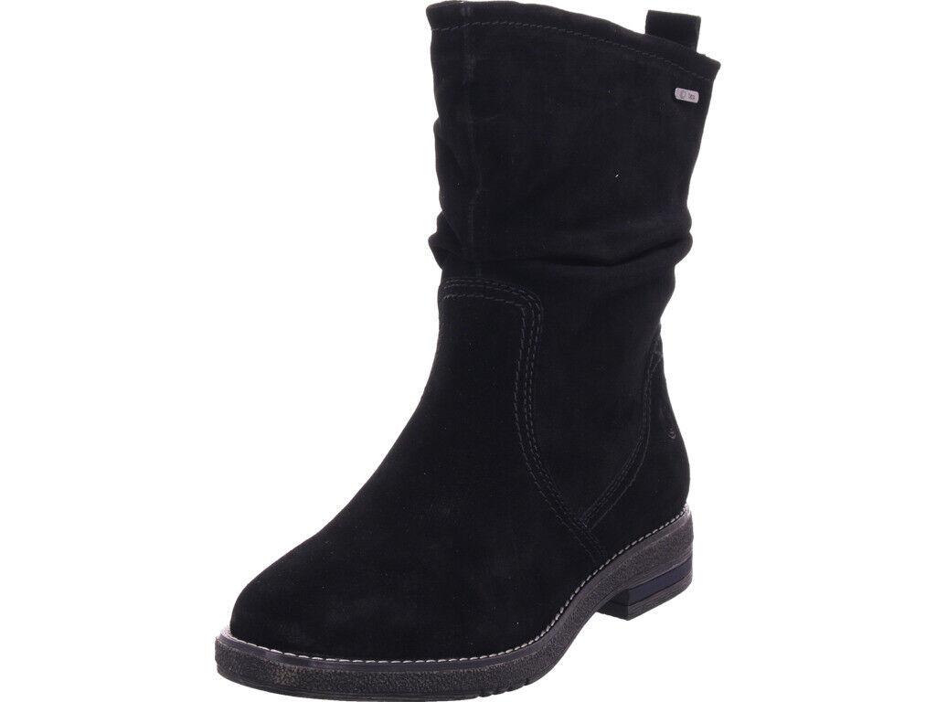 Stiefel Winter Damen Jana Stiefel schwarz schlüpfen zum warm