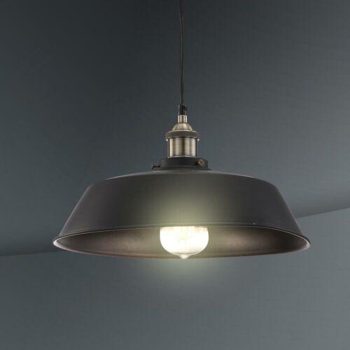 Retro Decken Lampe ALU Hänge Leuchte Küchen Flur Strahler schwarz Vintage Pendel