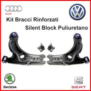 Kit-Bracci-Anteriori-Testine-Volkswagen-Golf-4-Rinforzati-Sospensione-4-Pezzi