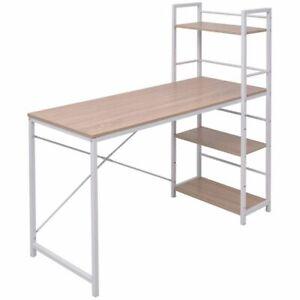 vidaXL-Boekenkast-met-4-Planken-en-Bureau-Eiken-Opbergbureau-Kast-Kasten-Bureaus