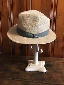66028bc9 Tommy Bahama Mens Panama Fedora Hat New Straw Raffia Beach Golf ...