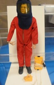 "Vintage 1960's GI Joe Volcano Jumper Red Outfit 12"" Hasbro W/ Figure"