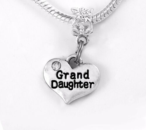 Granddaughter charm fits European style bracelet and necklace  CHARM ONLY