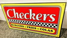 Checkers Checkers Burgers Sign Restaurant Fast Food