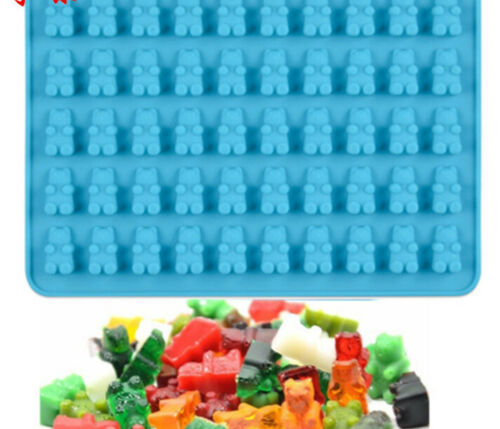 DIY Gummy Candy Silicone Chocolate Mould Maker Cavity Bear Ice Tray Mold Tools