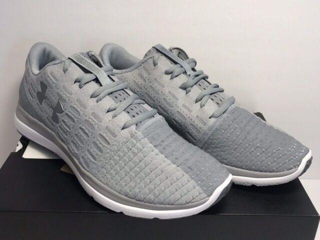 pretty nice 1c4a2 ae507 Mens Under Armour Threadborne Slingflex Running Shoes Trainers Overcast  Grey 9