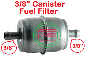 """1 3//8/"""" Universal Gas//Fuel Filter Chrome Canister"""