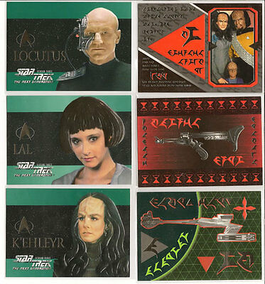 Star Trek TNG Next Generation Season 3 Embossed Insert Chase Card Set S13-S18