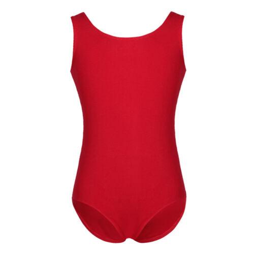 Girls Gymnastics Leotard Ballet Dance Dress Stretchy Dancewear Costume Bodysuit