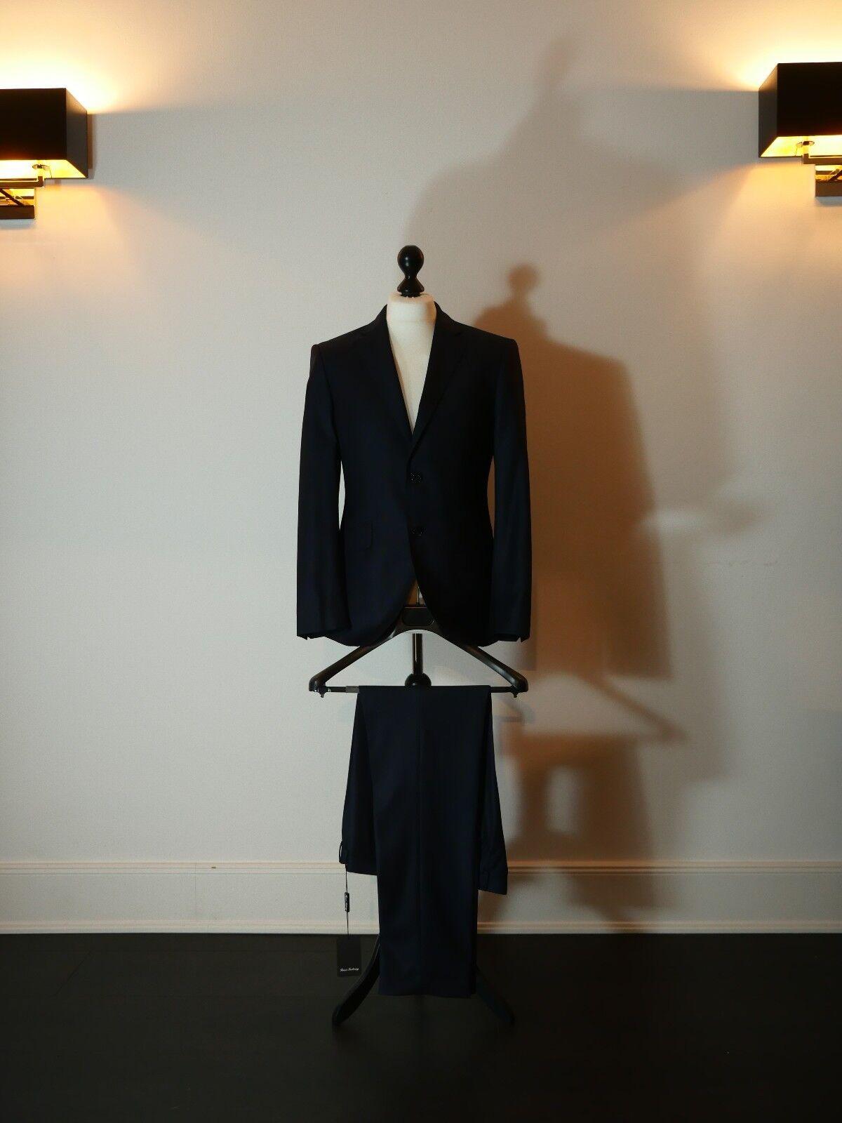 Blauer Anzug Fabric made in  100% Wolle Super 110 Größe 54