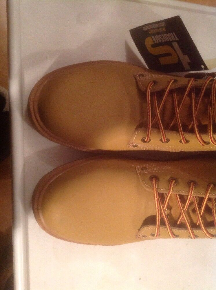Uomo Tan Tradesafe Lace Up Stiefel. Steel Toe Cap Safety Stiefel. Up Größe 12 New Shop Cleara 7e2c1a