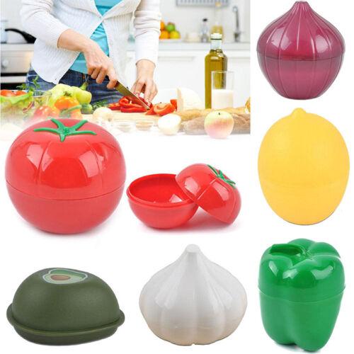 Kitchen Food Crisper Vegetable Containers Onion Garlic Lemon Fresh Storage Box