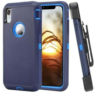 For Apple iPhone XR XS MAX Case Rugged Hard Cover w/Clip Fits Otterbox Defender