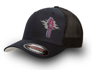 KENWORTH  FLEXFIT MESH TRUCKER CAP BLACK   KENWORTH TRUCKER CAP FLEXFIT  BLACK