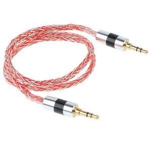 Universal-3-5mm-Car-Aux-Cord-4-Strands-19-core-Braided-Audio-Cable-for-Phone