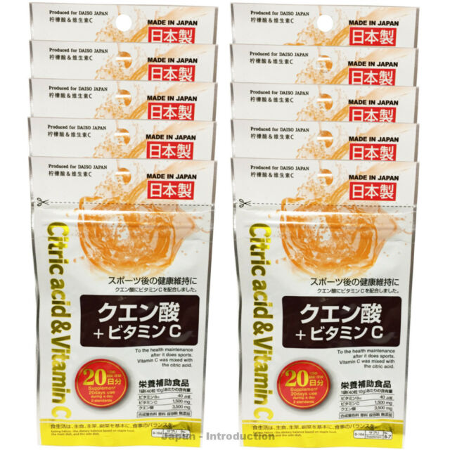 Daiso An Citric Acid Vitamin C 40 X 10 Tablets 200 Days Health Supplement