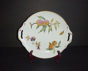 Image is loading Royal-Worcester-Arden-Cake-Plate-Serving-Platter-Handles- & Royal Worcester Arden Cake Plate Serving Platter Handles Fruit 1974 ...
