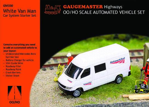 GaugemasterFtuttier GM330  bianca Van uomo auto System estrellat Set Netlavoro Rail H000