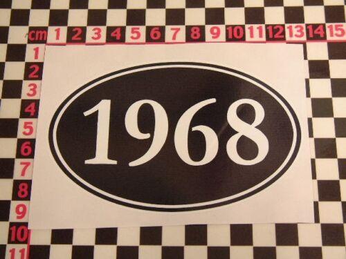 1968 anniversaire année Autocollant Amusant bon marché Drôle Humour Cadeau Blague Fête