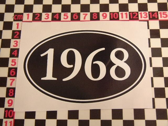1968 Year Sticker - Mini Cooper Austin Morris Minor Anglia Cortina Birthday