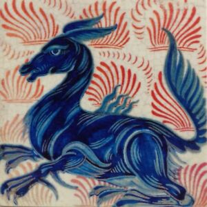 William De Morgan /william Morris Fridge Horse Magnet 5cm X 5cm Fired In Kiln Aromatic Character And Agreeable Taste Periods & Styles
