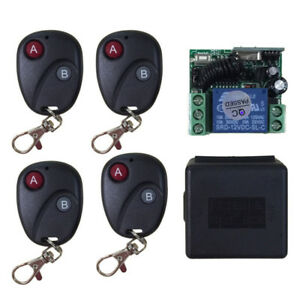 Relay-DC12V-7A-1CH-Wireless-Remote-Control-Switch-Transmitter-Receiver-Control