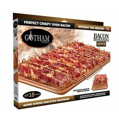 Gotham Steel Nonstick 2-Piece Set XL Bacon Bonanza Cooker, As Seen on TV! COPPER