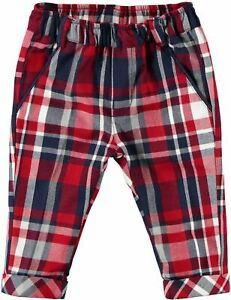 Pantalone-Modello-Chinos-In-Viscosa-Strech-Scozzese-Neonato-Minibanda-K648