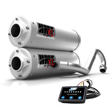 HMF Titan XL Dual Full System Exhaust Turbo Back Stainless + EFI Maverick X3