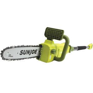 Sun-Joe-SWJ807E-10-inch-8-0-Amp-Electric-Convertible-Pole-Chain-Saw-Green