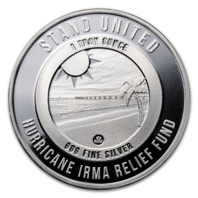 Hurricane Irma Relief Fund, Florida Strong - 1 oz .999 Fine Silver Round
