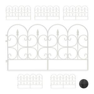 Bordure-de-jardin-plastique-Cloture-gazon-30-cm-6-elements-4-m-parterre-blanc