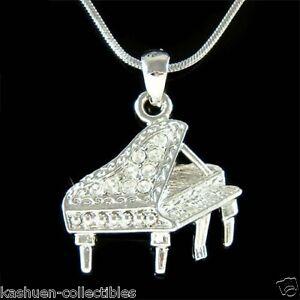 W swarovski crystal music baby grand piano musical pendant charm image is loading w swarovski crystal music baby grand piano musical aloadofball Images