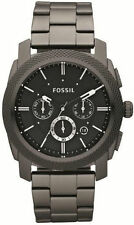 Fossil Original FS4662 Men's Machine Smoke Stainless Steel Watch 45mm