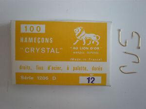 100-AMI-HOOKS-AU-LION-D-039-OR-CANNELLE-SERIES-1206-D-Oro-Gold