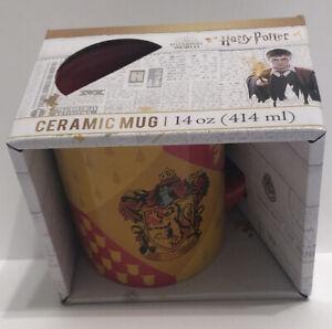 Harry Potter Gryffindor Crest Ceramic Coffee Mug 14oz Wizarding World Collect