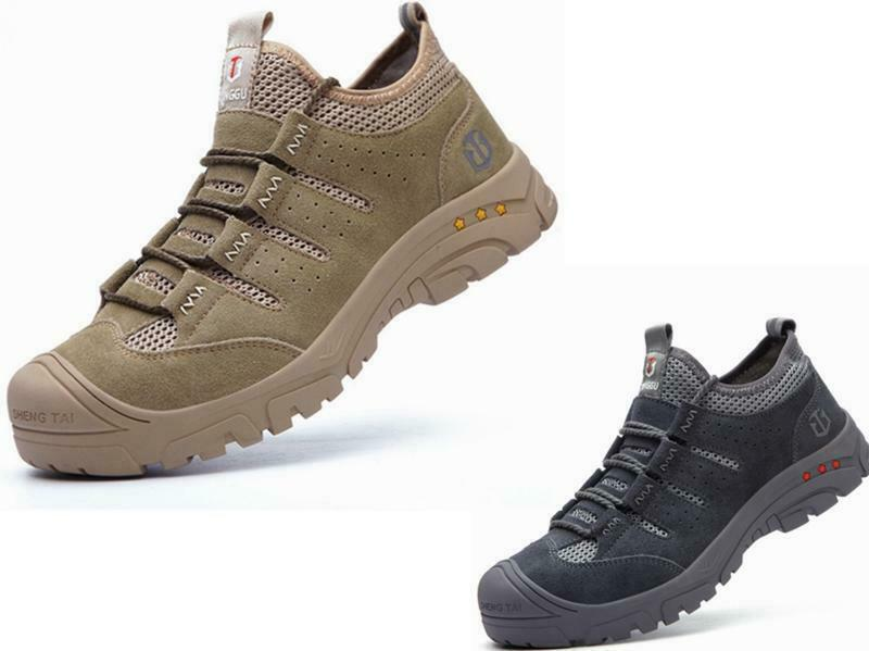 Safety Shoes for Men Women Steel Toe Cap Trainers Work Shoes Sports Hiking Shoes