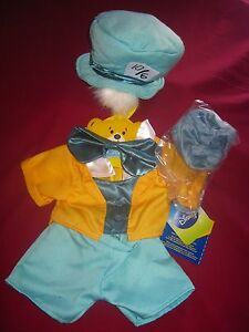 New Build-A-Bear Disney Alice in Wonderland MAD HATTER OUTFIT COSTUME