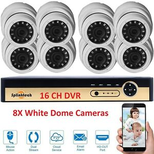 1080N 16CH DVR Record CCTV Home Security IRCUT 8Dome Camera H264 System HD Kit - Wolverhampton, West Midlands, United Kingdom - 1080N 16CH DVR Record CCTV Home Security IRCUT 8Dome Camera H264 System HD Kit - Wolverhampton, West Midlands, United Kingdom
